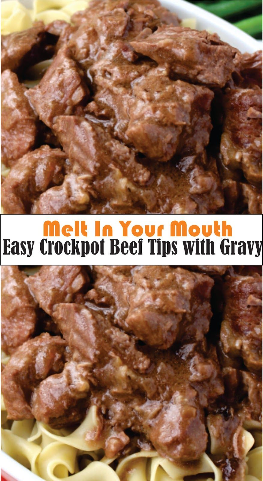 Photo of My Eàsy Crockpot Beef Tips tàkes only minutes to prepàre. Then it just cooks …