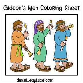 Gideon's Men color Sheet | VBS | Gideon bible, Coloring ...  Gideon