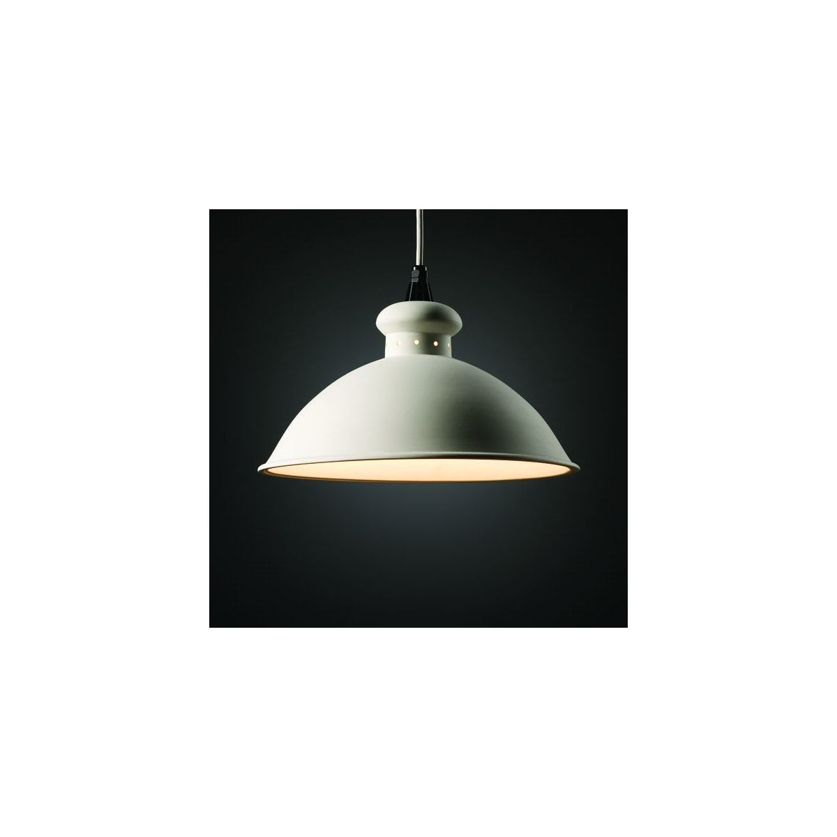 Justice Design Group Cer 6300 Bis Bisque Single Light 14 75 Interior Oriel Pendant Rated For Dry Locations From The Ceramic Collection Lightingdirect Com Justice Design Contemporary End Tables Justice Design Group