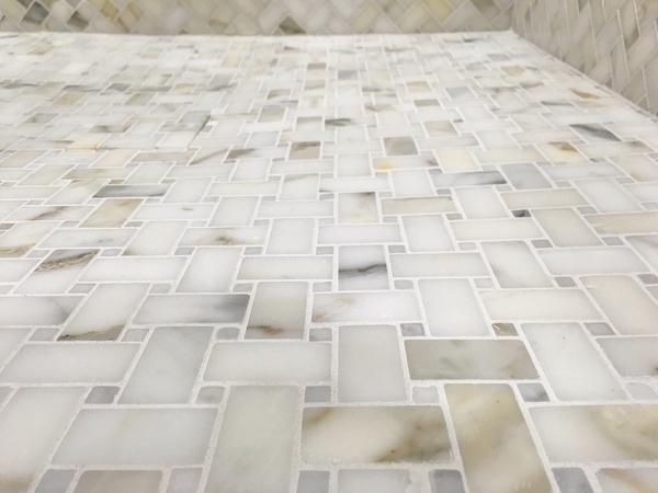 Basketweave Premium Honed Calacatta Gold Marble Mosaic Basketweave Pattern Calcutta Gold Marble Calacatta Gold Marble Shower Floor Tile