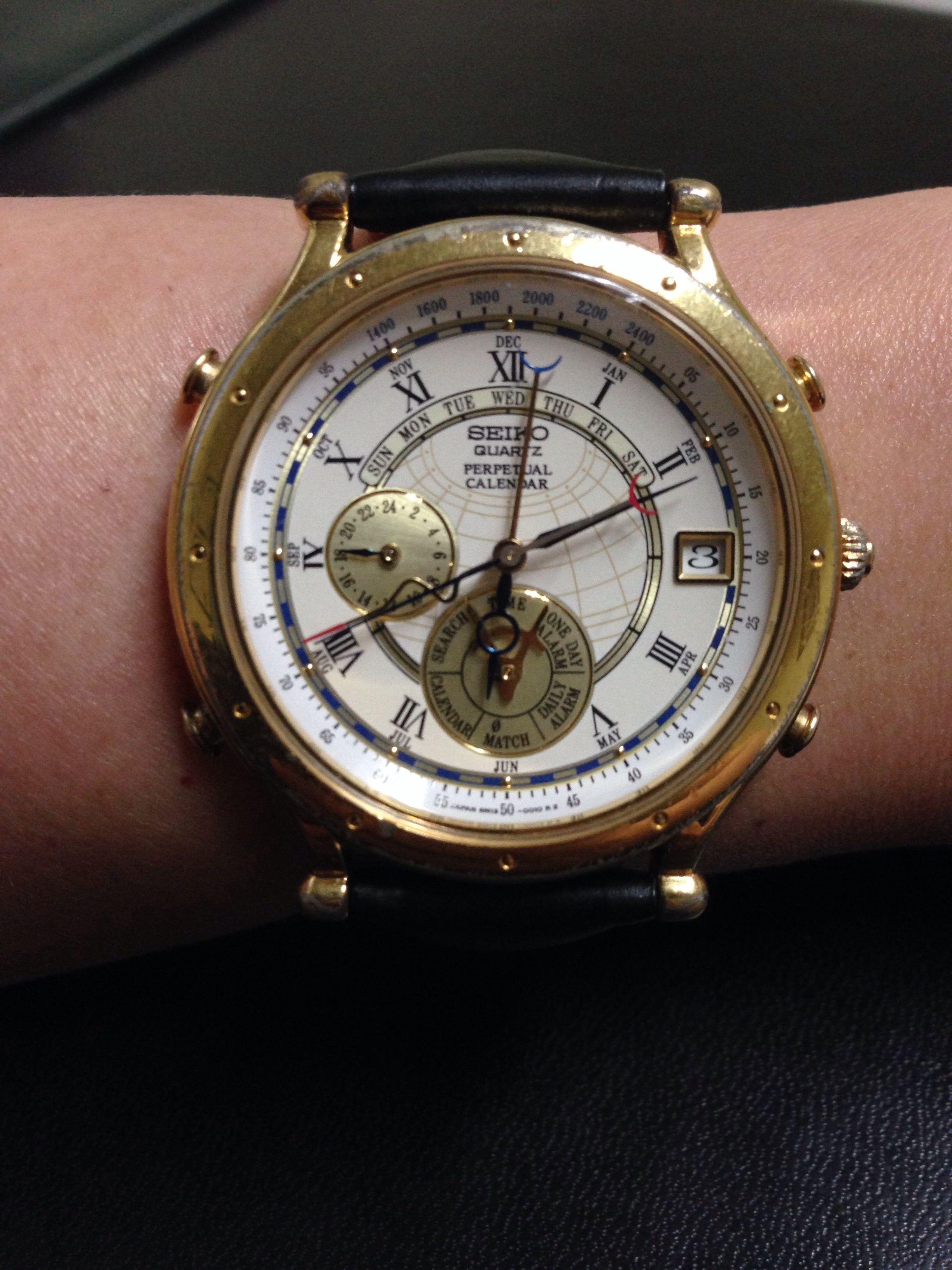 Seiko Perpetual Calendar Vintage : Seiko age of discovery perpetual calendar watch board