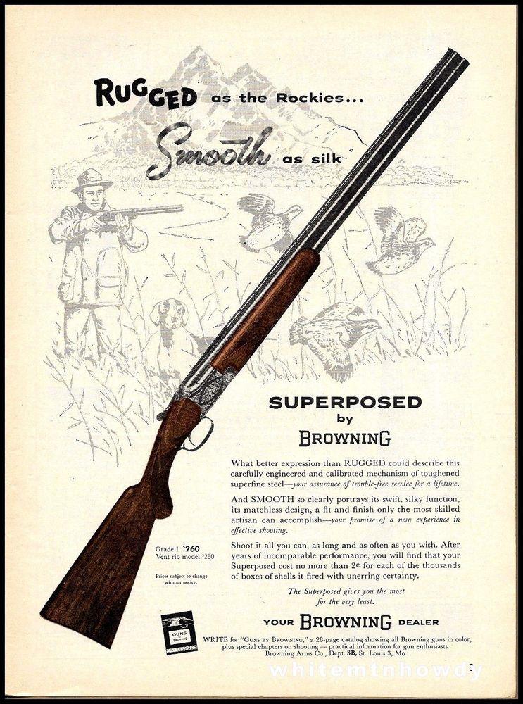 1958 BROWNING Grade 1 Over Under Superposed Shotgun AD Rocky