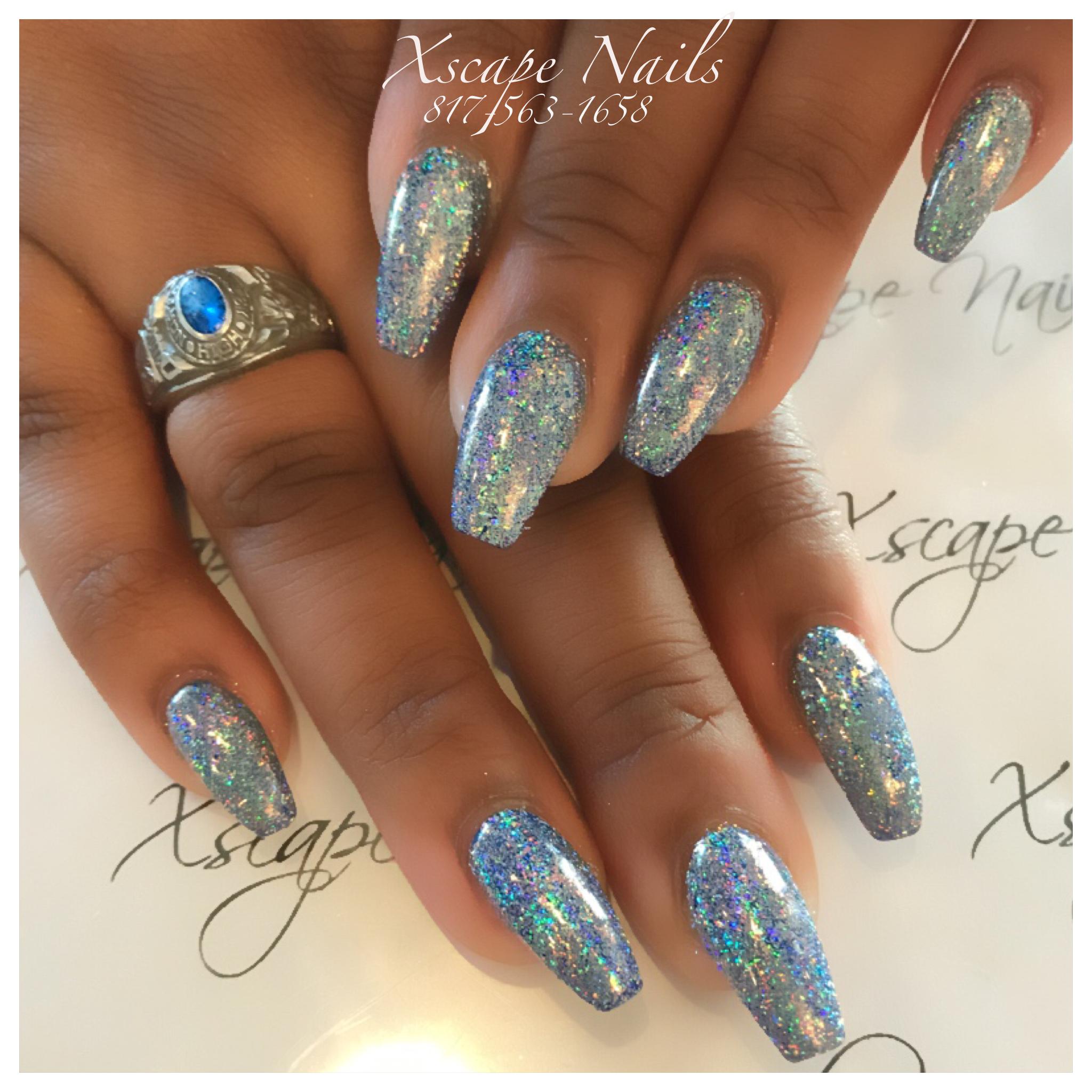 Galaxy chrome nails | Cute Nails Designs | Pinterest | Chrome nails