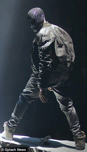 Kanye West Rips His Leather Trousers During First Gig On Yeezus Tour Kanye West Mask Kanye West Yeezus Kanye West Wallpaper