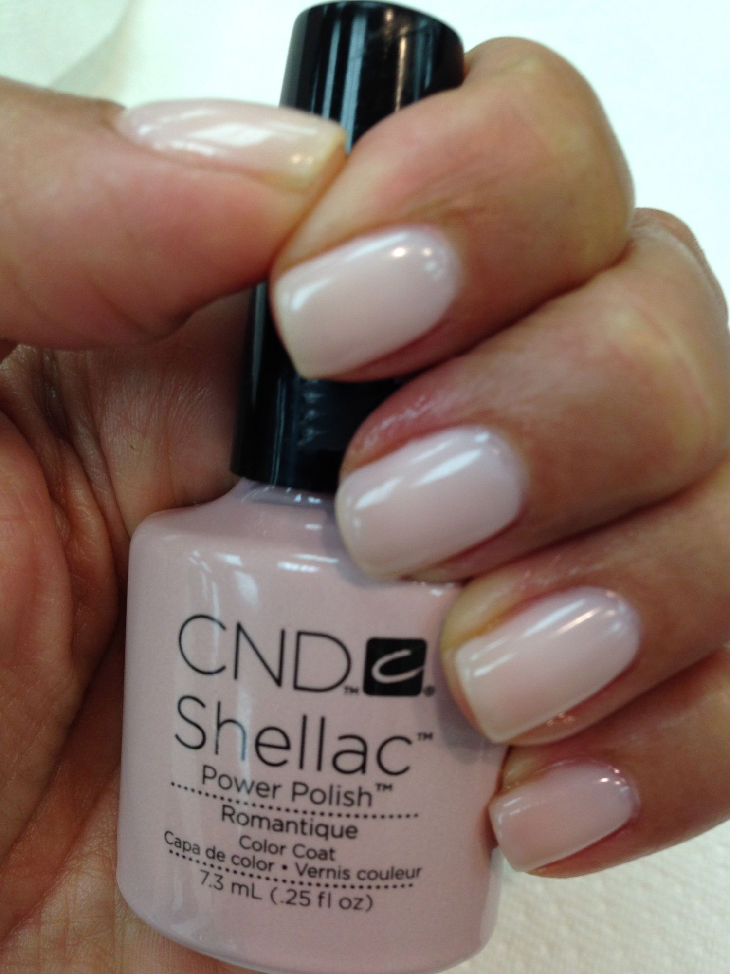 I Love The Clean Look And Mirror Like Shine Cnd Shellac In Romantique