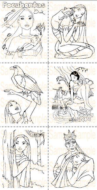 Pocahontas Party Favor Printable Pocahontas Coloring Book Sheets ...