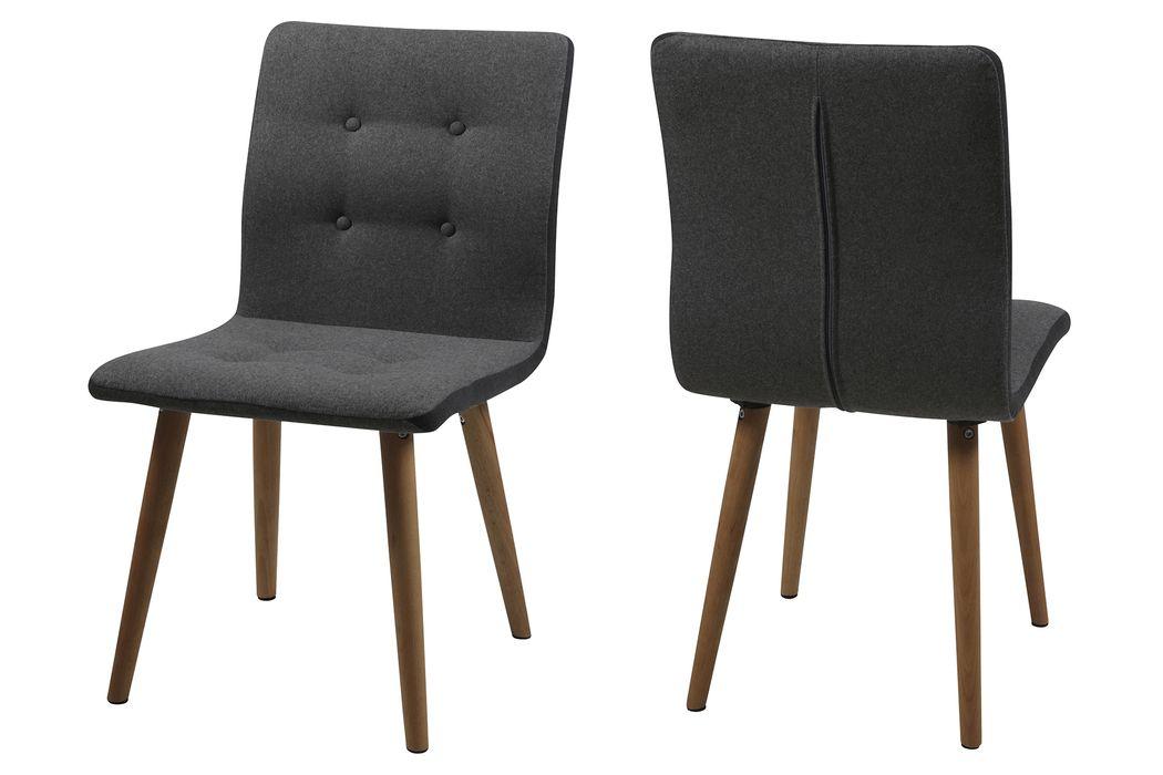 Verona spisebordsstol, mørkegrå - Køb online i dag