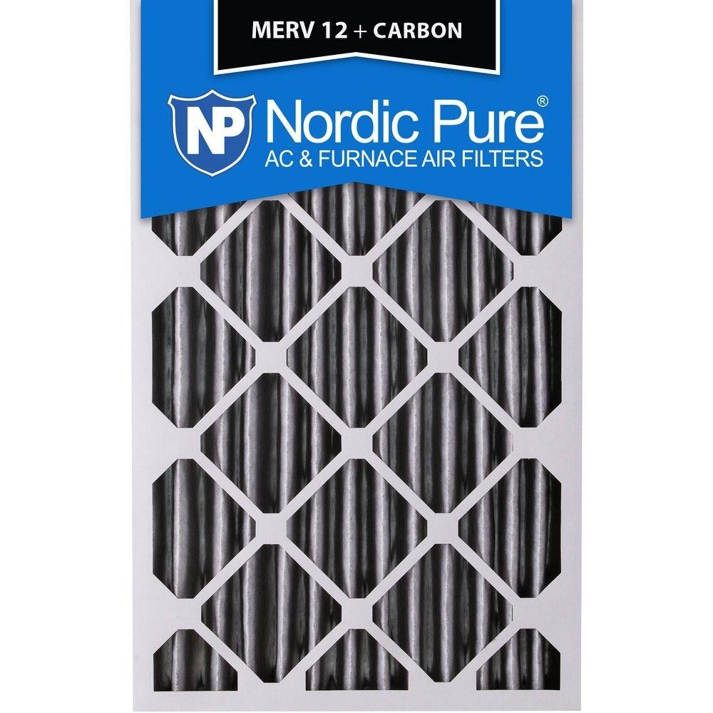 Nordic Pure 18x24x4 Pleated MERV 12 Plus Carbon AC Furnace