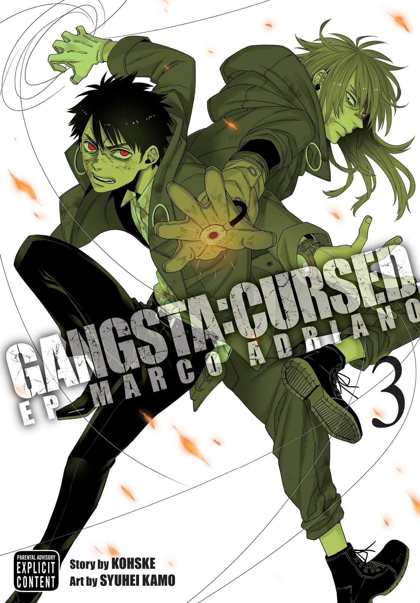 Gangsta cursed vol 3 gangsta anime art story guy names