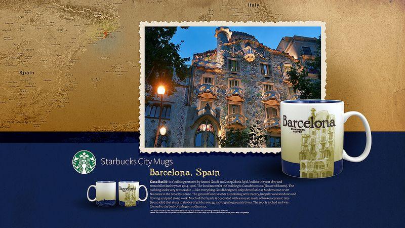 Starbucks City Mug Barcelona Desktop Wallpaper