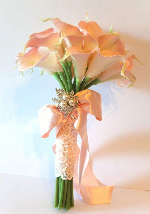 Blush Pink Calla Lily Bouquet Bridal Bouquet Wedding Bouquet In