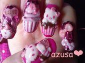 Photo of Hello Kitty in cupcake  Nail Art Gallery nailartgallery.na by nailsmag.co