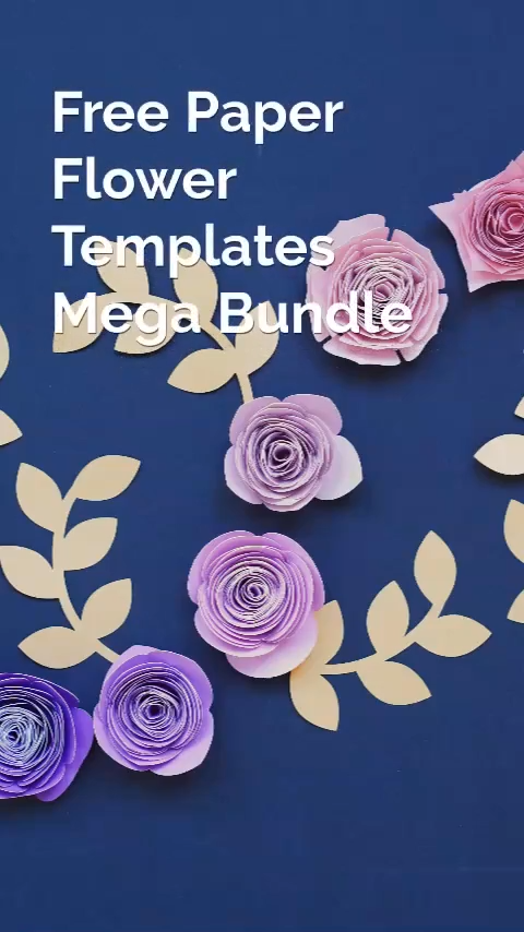 47 Free Paper Flower Cut Files