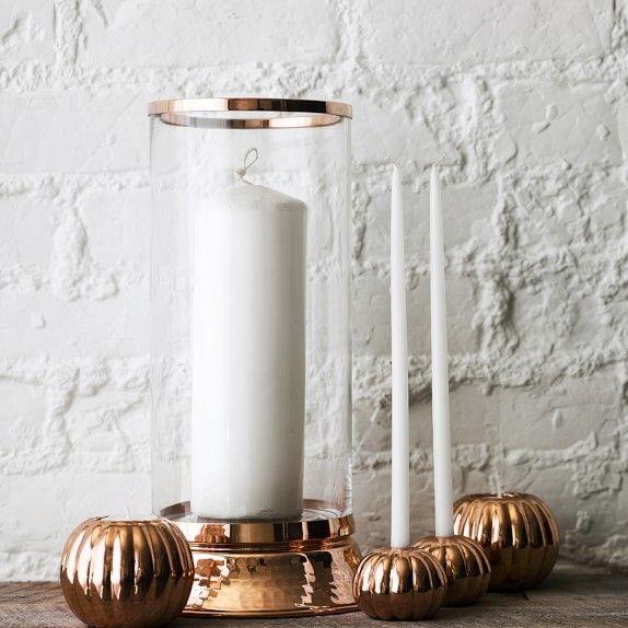 Pumpkin Tiny Taper Candles, Set of 2 #williamssonoma