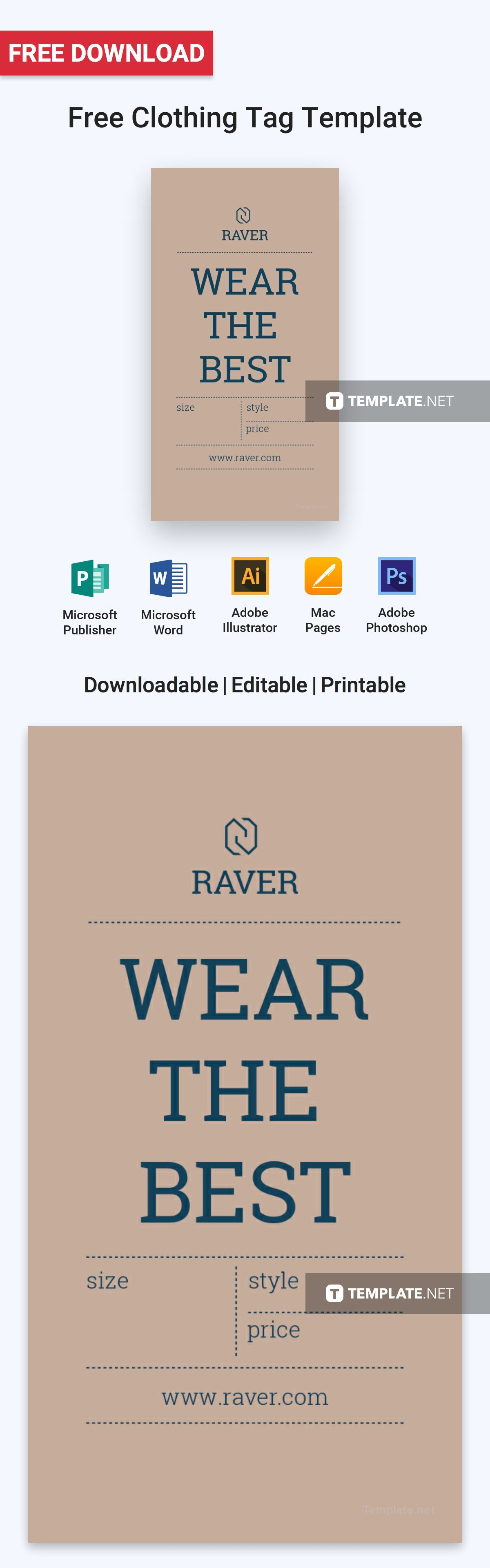 free clothing tag tag templates clothing tags and template