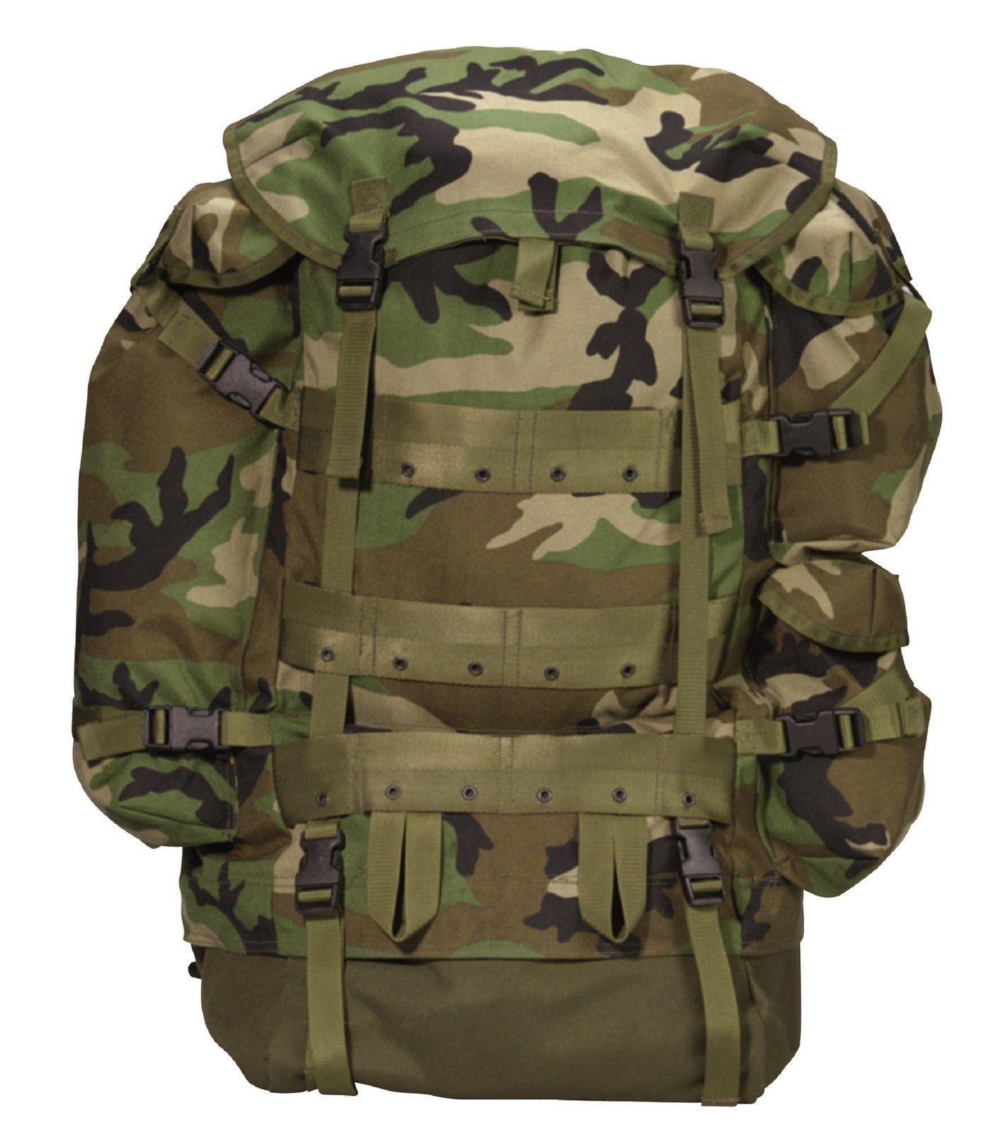MILITARY TYPE CFP-90 COMBAT PACKS - Black or Woodland Camo Better ...