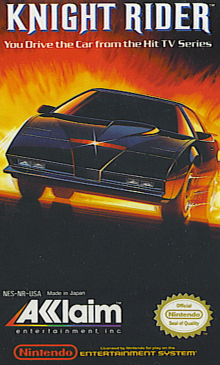 Knight Rider for the NES. Knight rider, 80 tv shows, Nes