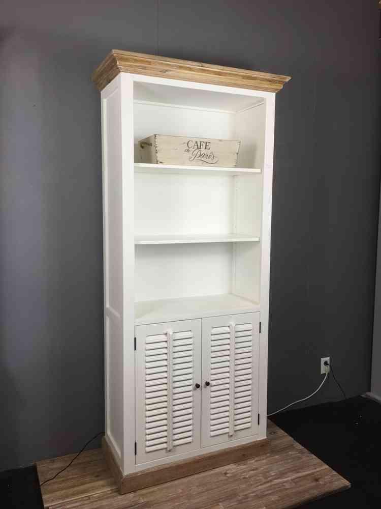 Landelijke boekenkast, wit , shutters, 100 cm. AW1023A | Pinterest ...