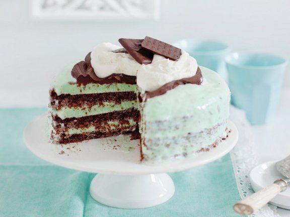 Schokoladentorte Mit Minzcreme Rezept Schokokuchen Rezepte