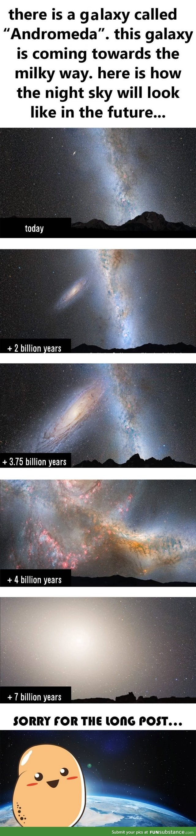 How the night sky from Earth will look like in the far future