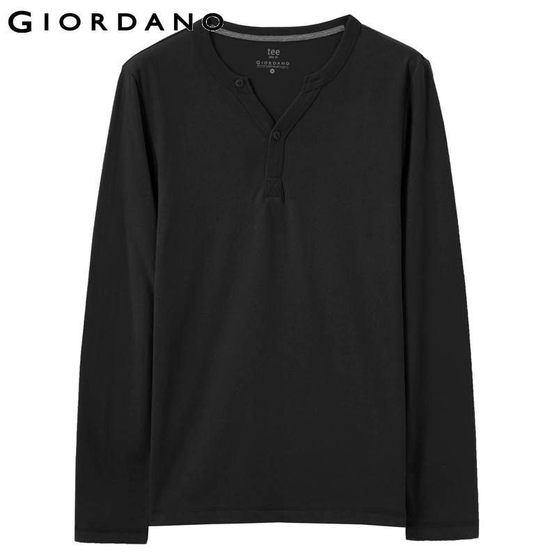 T-shirt Henley Long Sleeves Soft Cotton Solid Camisetas Jersey Casual