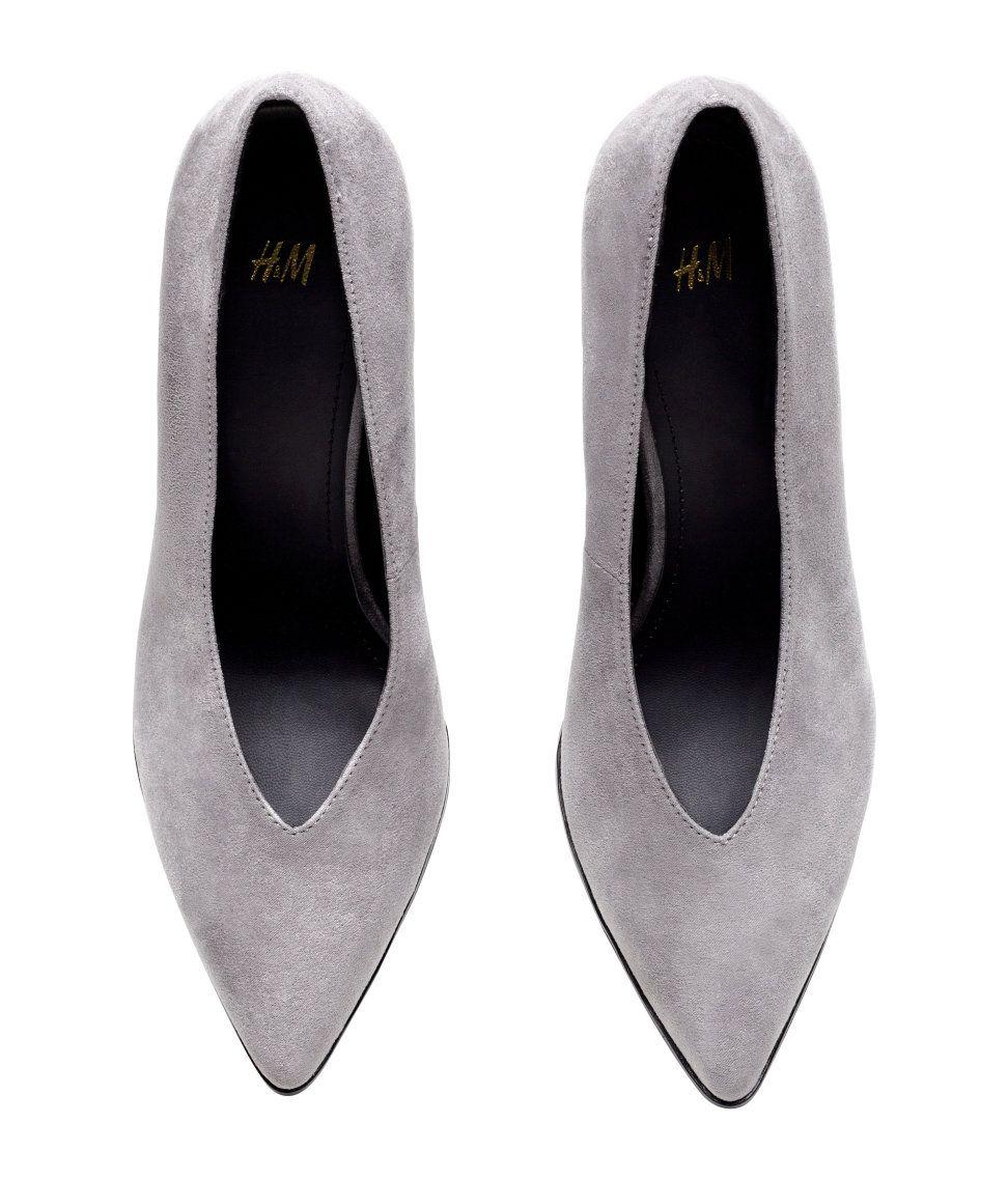 Grey Pumps   H&M Shoes   Fashion Sense!!! <3   Shoes