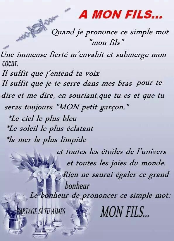 A Mon Fils Citations Pour Mon Fils Citation Citations Fils