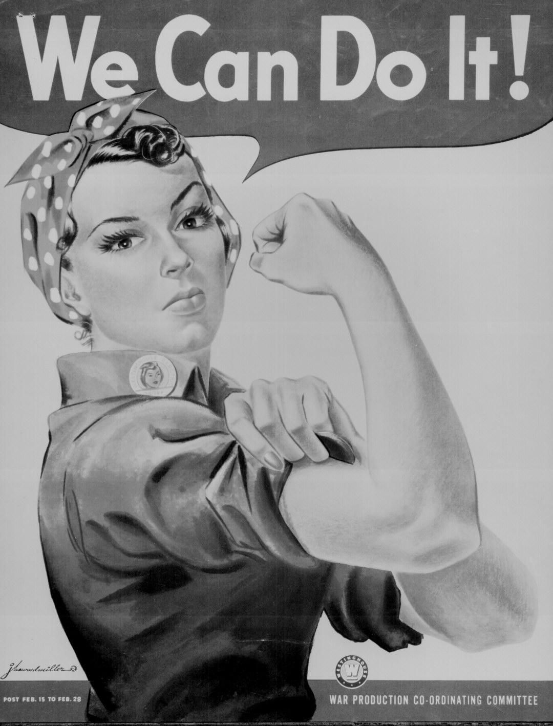 Rosie The Riveter WWII Poster Photo