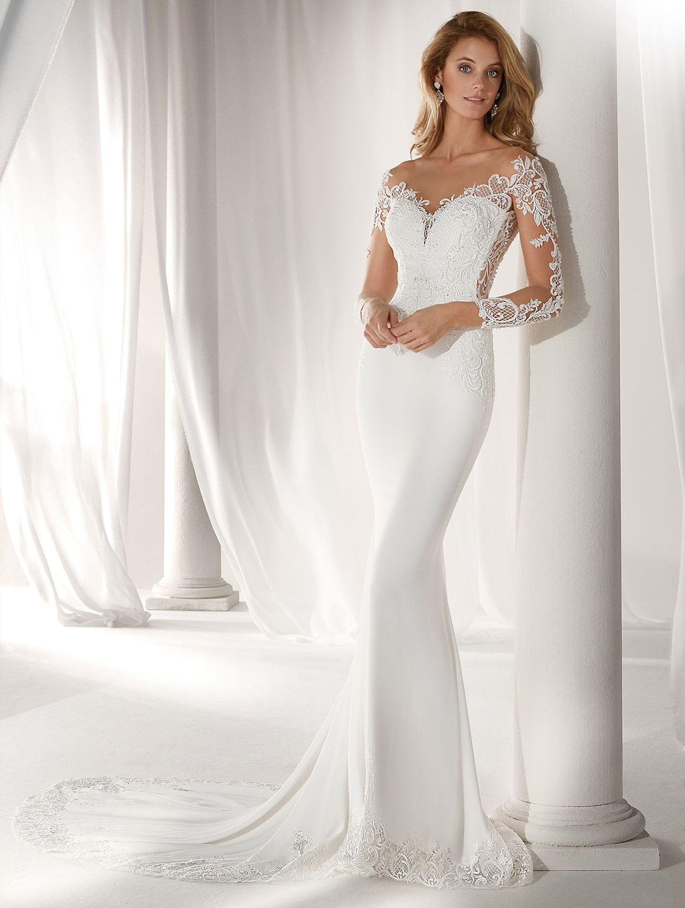 Vestido de Novia de Nicole (NIAB19043) #bodas #wedding #weddingdress #bride #novia #vestidodenovia #bridelook #bridedress #tendencias2019 #mangas #sleeves