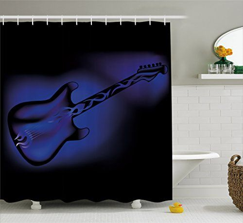 Bathroom Rugs Ideas Music Shower Curtain By Ambesonne Electric