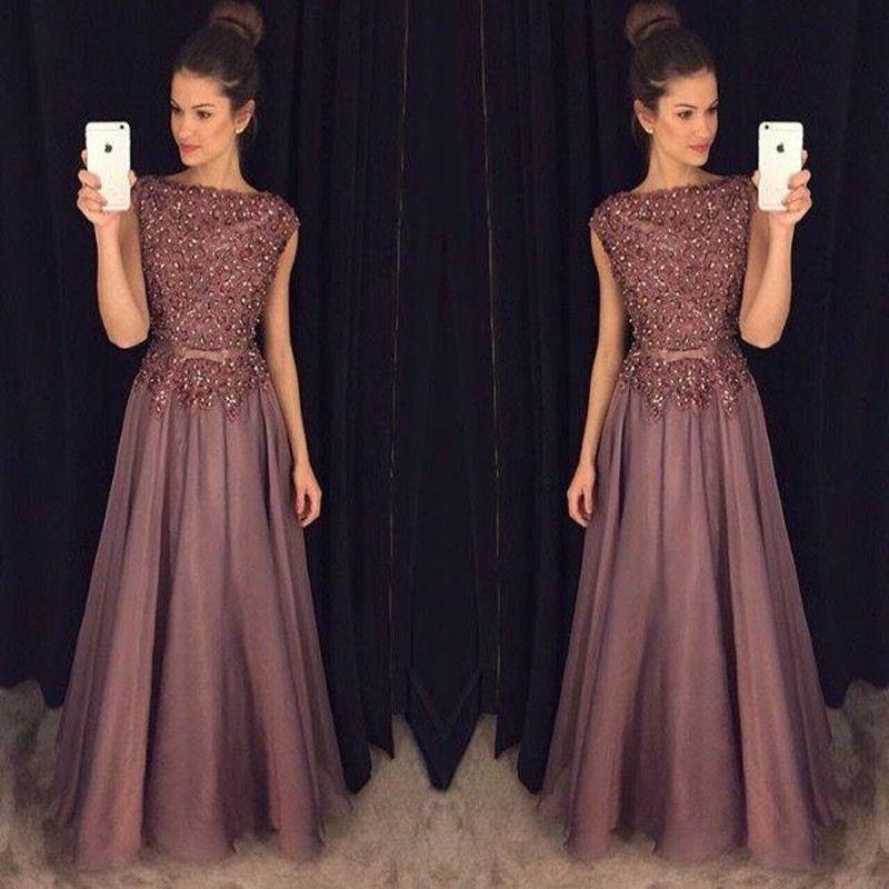 Glitter lace prom dress
