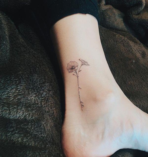 Single Daisy Tattoo: ポピー タトゥー, タトゥー, ヘナ