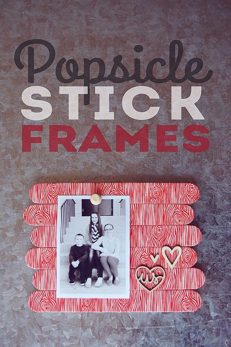 Popsicle stick frames using washi tape. These would be fun for the kids to make for their grandparents for Christmas!