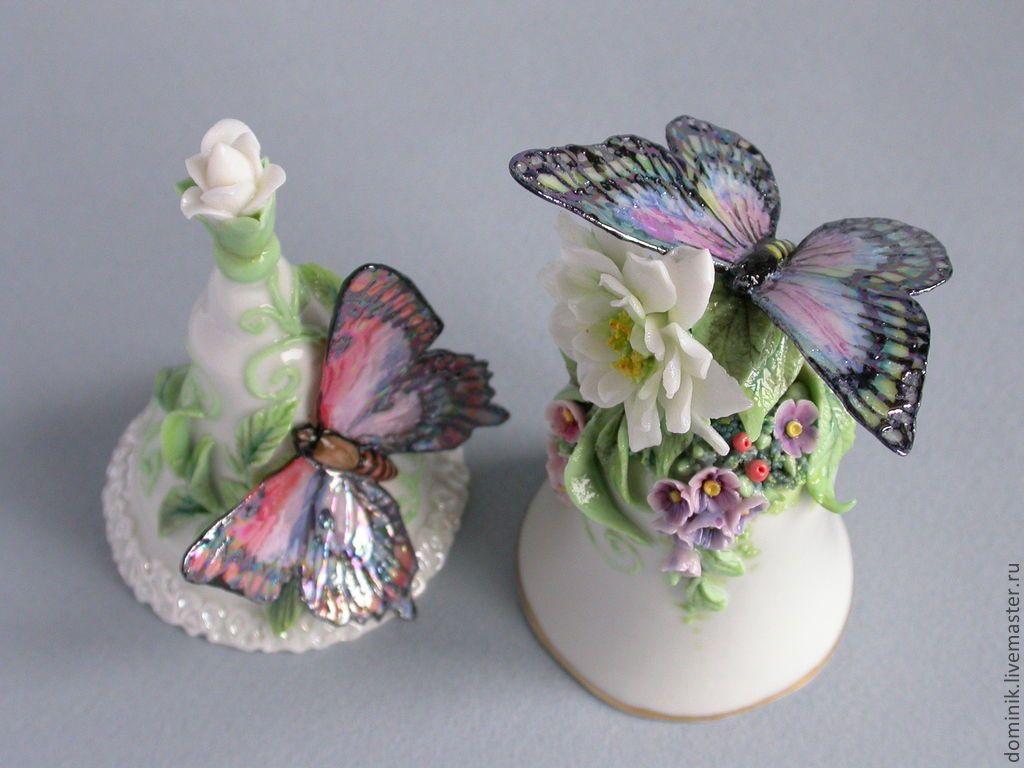 Колокольчики с бабочками | Напёрсток, Колокольчик, Бабочки