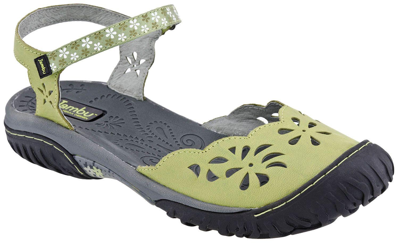 Jambu Ocean Women's Closed Toe Sandal (Sage) Stylish