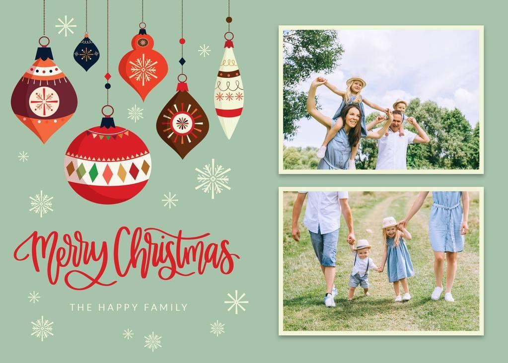 3 Free Christmas & Holiday Card Templates Christmas card