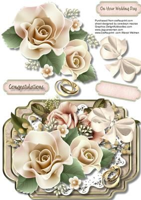 Beautiful Wedding Day Roses on Craftsuprint - Add To Basket!