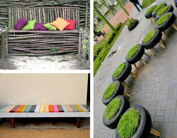 15 fotos e ideas para hacer un banco para el jard n for Ideas para hacer un jardin