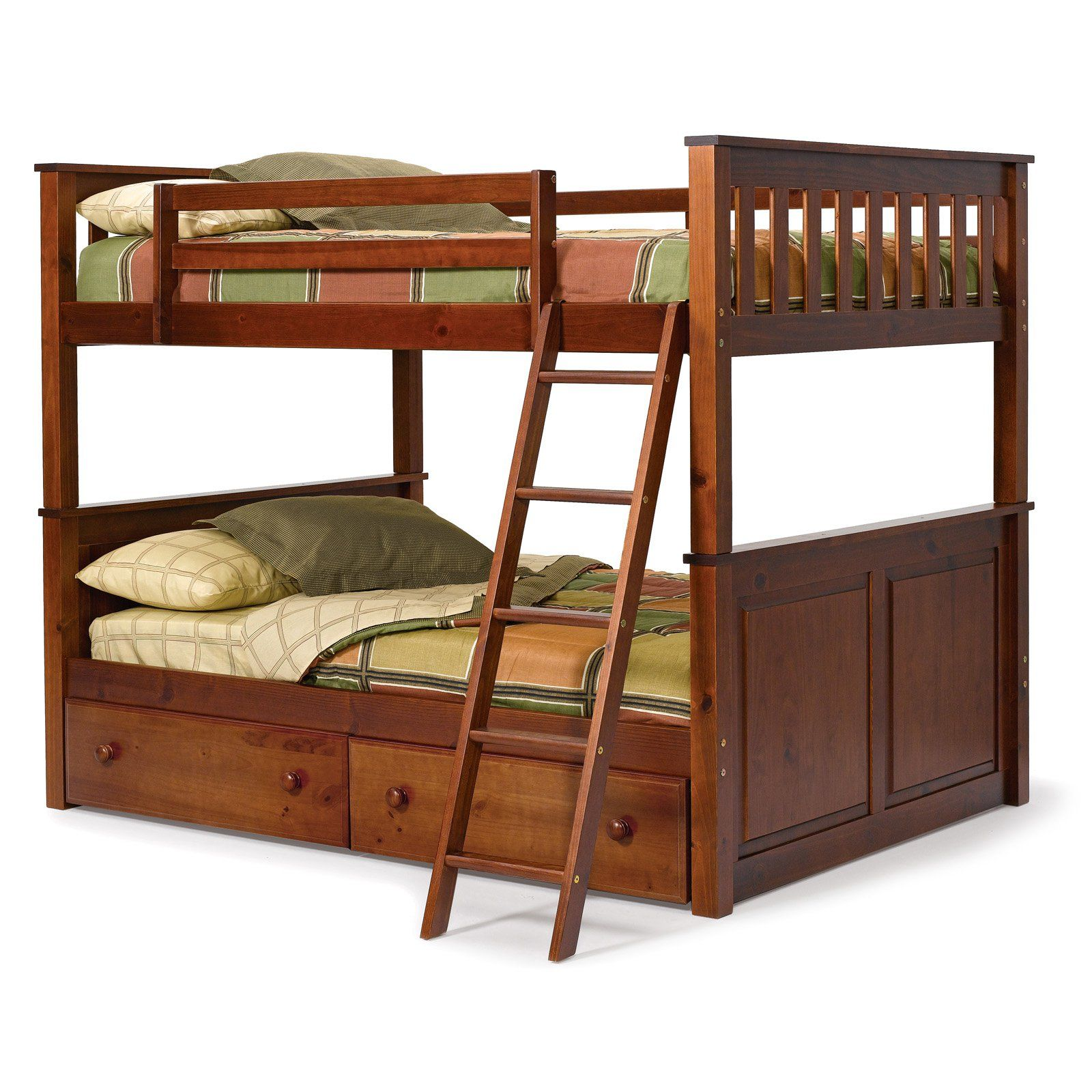 Woodcrest Pine Ridge Full Over Full Bunk Bed Chocolate The