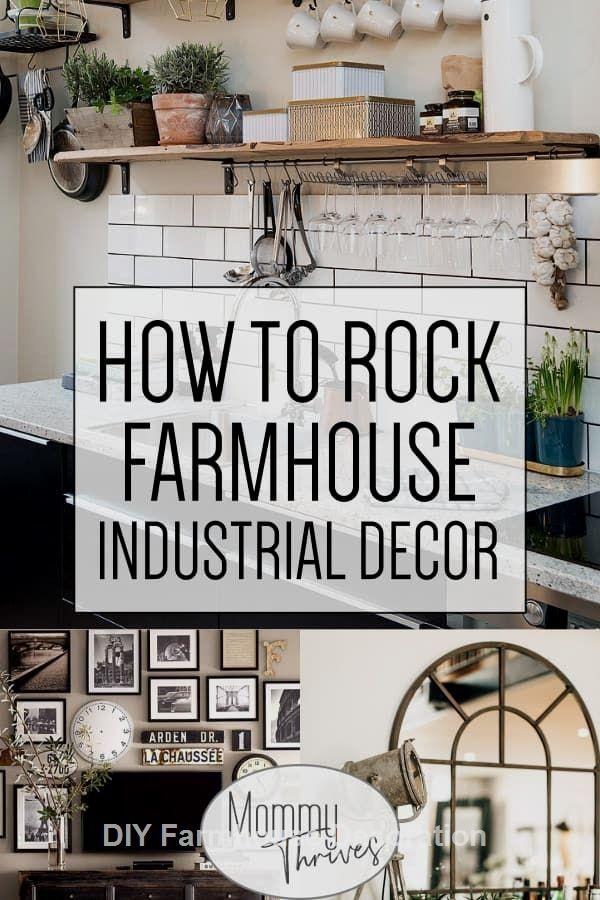 Diy Easy And Great Farmhouse Decor Ideas Farmhouse Diydecor Industrial Farmhouse Decor Industrial Decor Living Room Industrial Livingroom