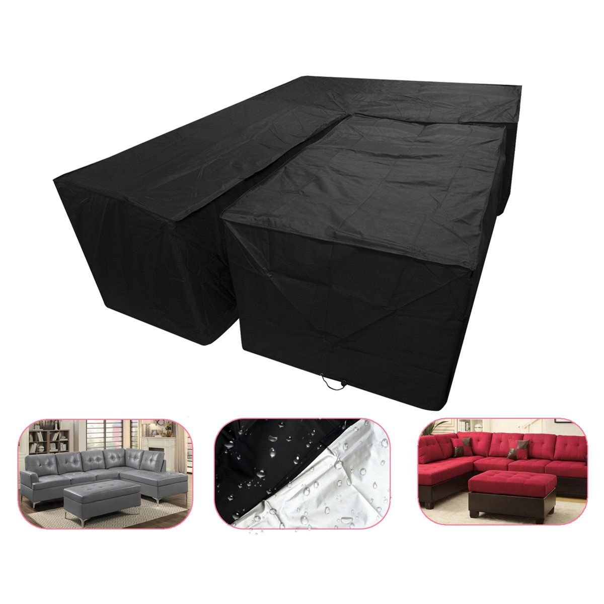 2pcs Set Garden Furniture Waterproof Cover Small L Shaped Dustproof Sofa Couch Cover Set Couch Covers Travel Supplies Garden Furniture