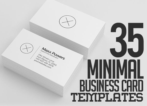 35 minimal modern business card templates minimaldesign minimal businesscard visitingcard