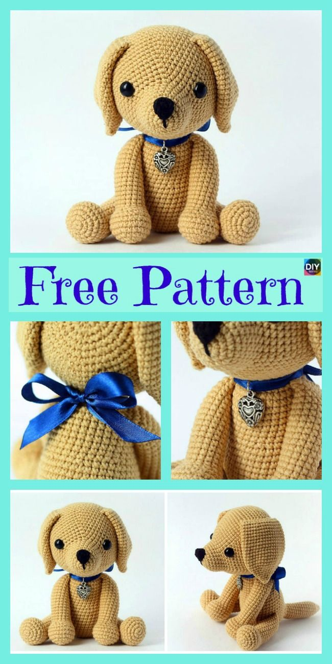 100 Amigurumi Crochet Dogs Patterns - Örgü Modelleri | 1300x650