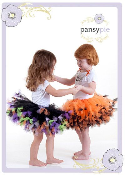 Orange And Black Tutu OR Purple And Green Tutu by PansyPieBoutique, $30.99