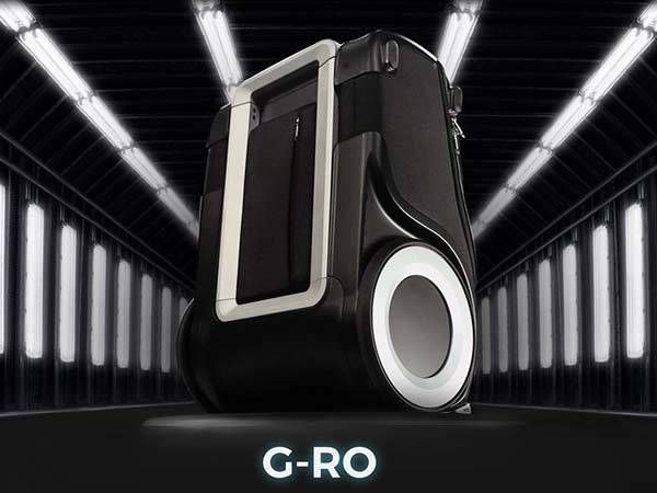 G-RO Carry-on Luggage Boasts Two Big Wheels, Charging Station ...
