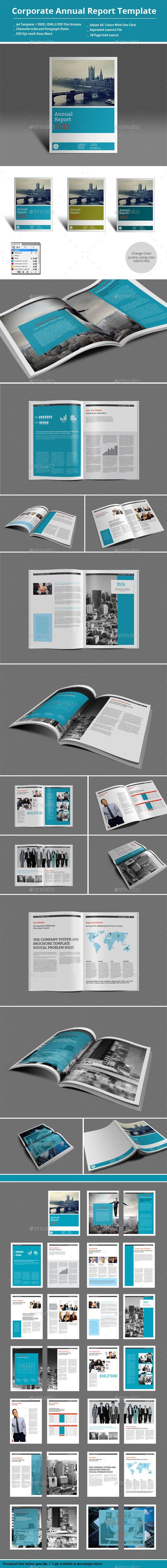 Corporate Annual Report Template | Informes anuales, Folletos y Plantas