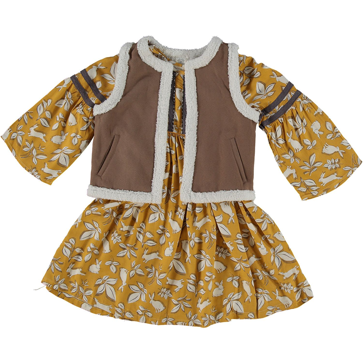 Artisan NY Mustard & Brown Dress Outfit  Clothes, Girl outfits