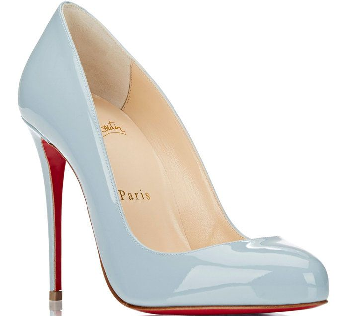 christian louboutin light blue heels