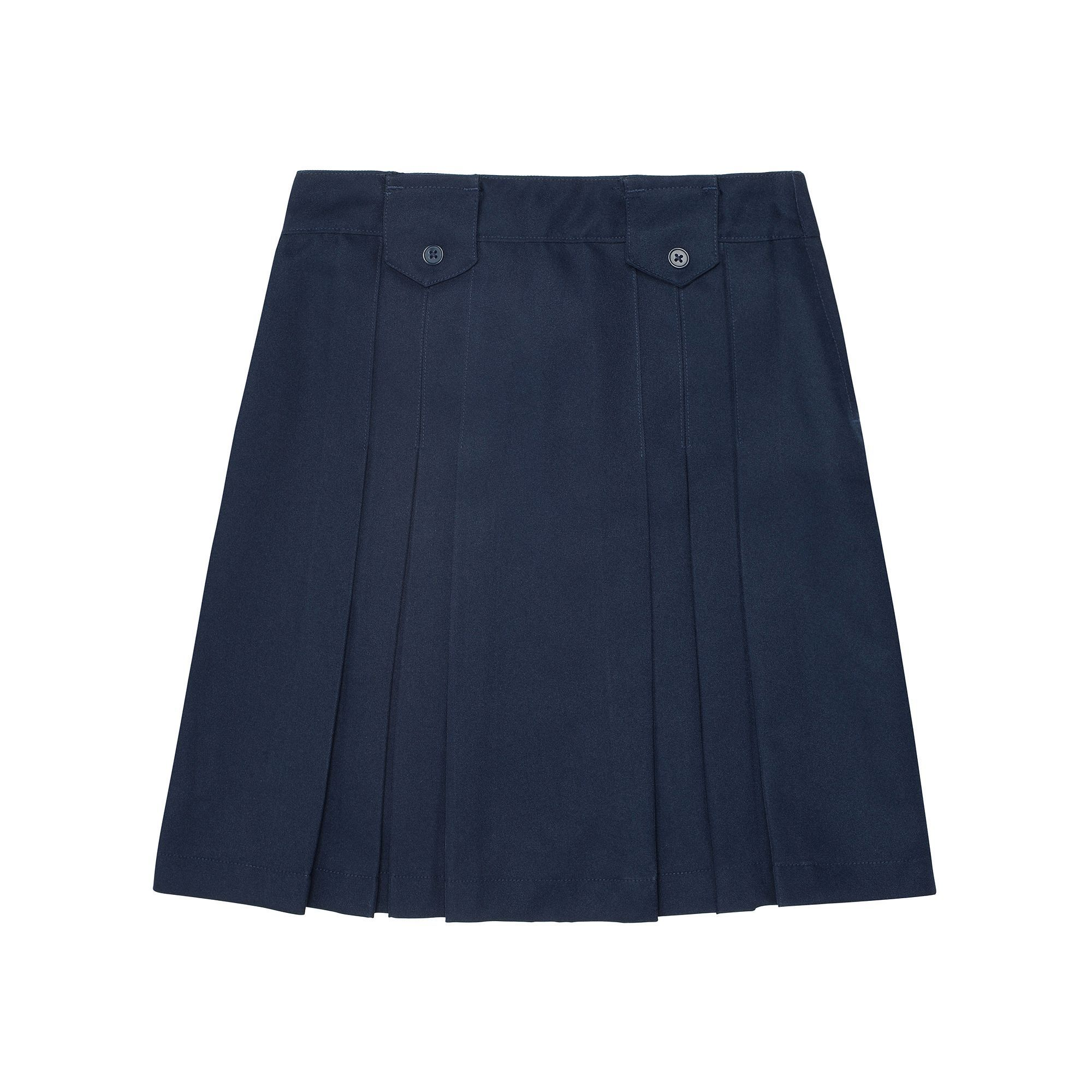 517def1431 Girls 4-20 & Plus Size French Toast School Uniform Triple Pleated Skirt,  Size: 12 Plus, Blue (Navy)