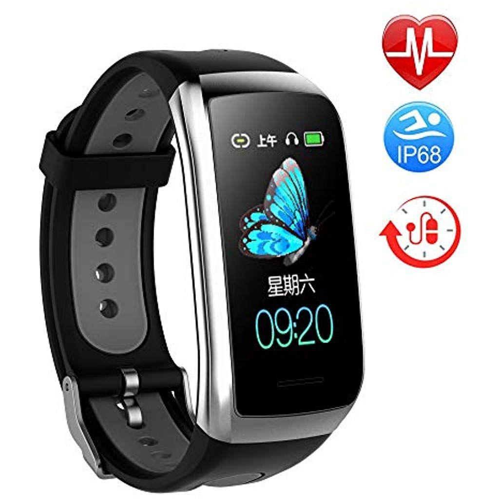 Twobefit Fitness Armband Mit Pulsmesser Fitness Tracker Smartwatch Blutdruckmesser Wasserdicht Ip68 Aktivitatstracker Sc Fitness Armband Sportuhr Ruckentrainer
